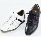 スポーツラインレザースニーカー【5cmヒールアップシューズ靴メンズ】【送料無料】