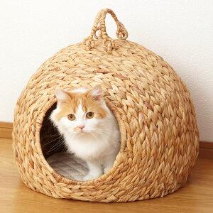ねこちゃんハウス「ちぐら」(大) 【ウォーターヒヤシンス 猫ちぐら 猫つぐら ペットハウ...
