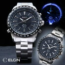 エルジンGPS衛生電波ウォッチ【電波時計電波腕時計メンズELGIN】【送料無料】