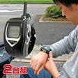 腕時計型 特定小電力トランシーバー 【2台 セット イヤホンマイク ウォッチ 無線 ハンズフリー トランシーバ FT-20W】【ギフト プレゼント】【送料無料】10P03Dec16