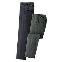 手ぶらでおでかけ8ポケットパンツ(2色組) 【 選べる股下 撥水 ストレッチ ノータック スラックス風 メンズ ズボン 】【送料無料】