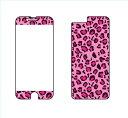 楽天iPhone6用,iPhone6S用 液晶保護フィルム+デコシール idecoガード 豹柄ピンク ゆうパケット送料無料!