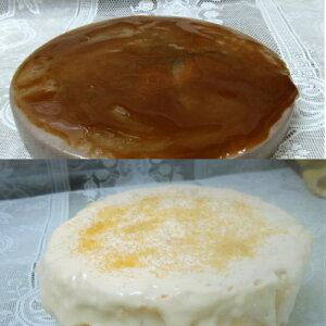 半生ラカンカチーズケーキとチョコレートレアーチーズケーキのセット