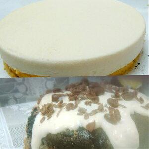 半生チョコレートチーズケーキとクリームレアーチーズケーキのセット