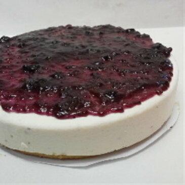 [ブルーベリーレアーチーズケーキ ]相性抜群、ブルーベリーソースを練りこみ、トッピングしました。チーズケーキと相性抜群のブルーベリーを低カロリー(カロリーオフ)でサッパリあっさりと食べやすいレアチーズケーキです。