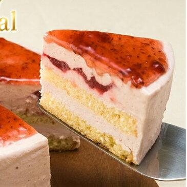 [ #父の日 ][ロイヤルストロベリーレアーチーズケーキ]イチゴの果肉入りで砂糖不使用/甜菜糖使用の低カロリーチーズケーキです。ギフトとして最適商品です。