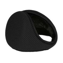 uxcell 耳あて 折りたたみ 耳カバー 防寒 イヤーウォーマー イヤーマフ 冬用 男女兼用 ブラック L(42x13cm)