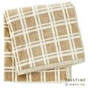 プリスティン ブラウンチェック綿毛布 140×200cm