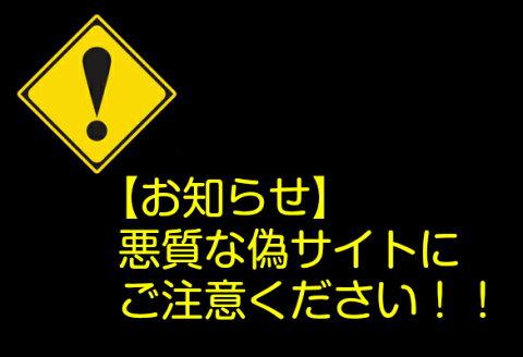 【お知らせ】悪質な偽サイトにご注意ください!!