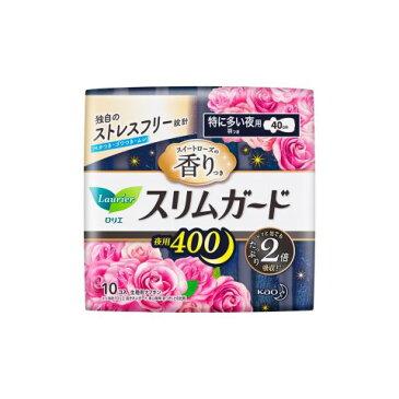 花王 ロリエスリムガードローズ特に多い夜用400 10個[ロリエスリム 生理用品 ナプキン]