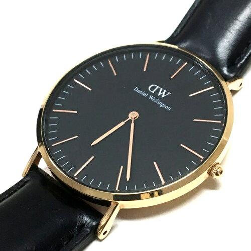 ダニエルウェリントン DANIEL WELLINGTON Classic Black Cornwall 40MM クオーツ 腕時計 レザーバ...