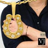 【ファッション誌に掲載】VJ【ブイジェイ】K18イエローゴールドメンズリリーペンダント