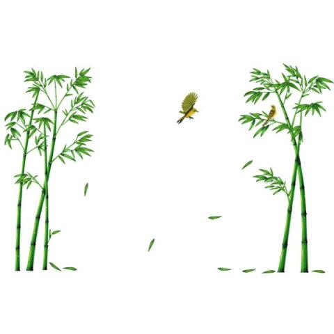 ウォールステッカー 竹 木 鳥 植物 おしゃれ 竹林 葉 壁紙 グリーン 和室 大きな木 ウオールステッカー 書道 ウォールシール インテリア 壁 飾り 大きい 和柄 森 窓 特大 カフェ モダン 和風 シール ウォールデコ 風景 緑 森林 床の間 リビング 玄関 寝室 詩 歌