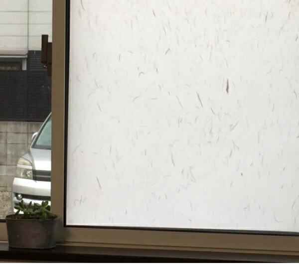 窓 ガラスフィルム 目隠し シート 【水だけ簡単お得な90cm巾】 おしゃれ フィルム ガラスシート かわいい 窓ガラス ステッカー 厚手 浴室 フィルム ステンドガラス 柄 目隠しシート ガラスシール カフェ レトロ 家具 シール 窓用 出窓 和室 和紙 和柄 和風 白色 和 霞 モダン