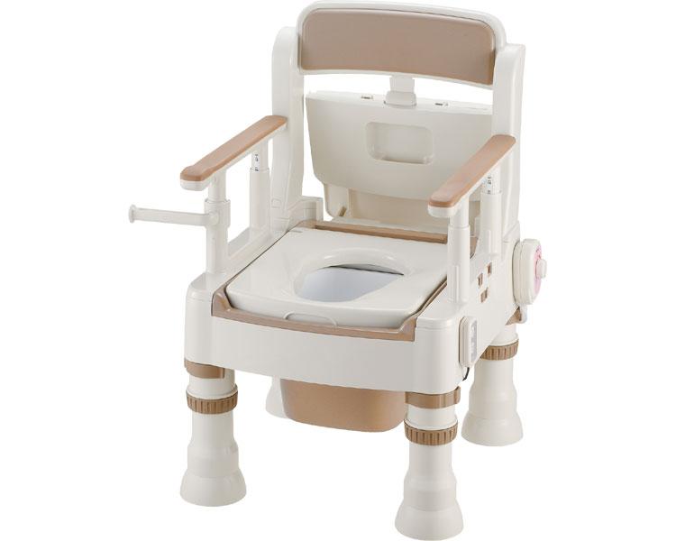 ポータブルトイレ きらく ミニでか 脱臭器付(暖房便座) MH-D型 / 45651 アイボリー 1台:福祉用具のバリューケア