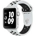[エントリーでポイント3倍以上]アップルウォッチ 本体 ナイキ Apple Watch Series 3 Nike+ 38mm シルバーアルミニウムケースとピュアプラチナム/ブラックNikeスポーツバンド シリーズ3 (GPSモデル)MQKX2J/A MQKX2J/A