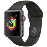 アップルウォッチ 本体 Apple Watch Series 3 38mm スペースグレイアルミニウムケースとブラックスポーツバンド シリーズ3 (GPSモデル)MTF02J/A MTF02JA