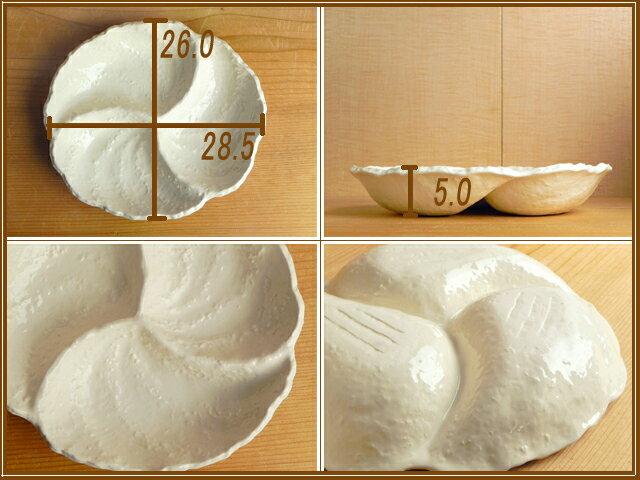 オフホワイト ギザギザのオードブルプレート 白い食器/業務用/仕切り/おしゃれ/洋食器/売れ筋/人気/通販/