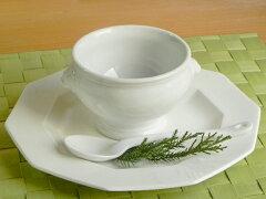 ホワイト ライオントリフボウル Lサイズ ~ 白い食器 訳あり/食器/カフェオレボウル/アウト…