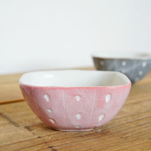 シード 角小鉢:ピンク /TOJIKITONYA/ボウル/和食器