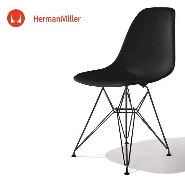イームズ サイドシェルチェア DSR ブラック ブラックベース スタンダードグライズ[DSR. BK ZA E8]【Herman Miller ハーマンミラー 正規品】:VANILLA-KAGU