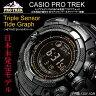 日本未発売!稀少モデル CASIO PROTREKプロトレック タフソーラー・トリプルセンサー搭載 メンズウォッチ 腕時計 PRG-130Y-1 送料無料