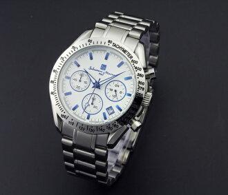 Watch men's popular brand Salvatore Marra SM12135-SSWHBL