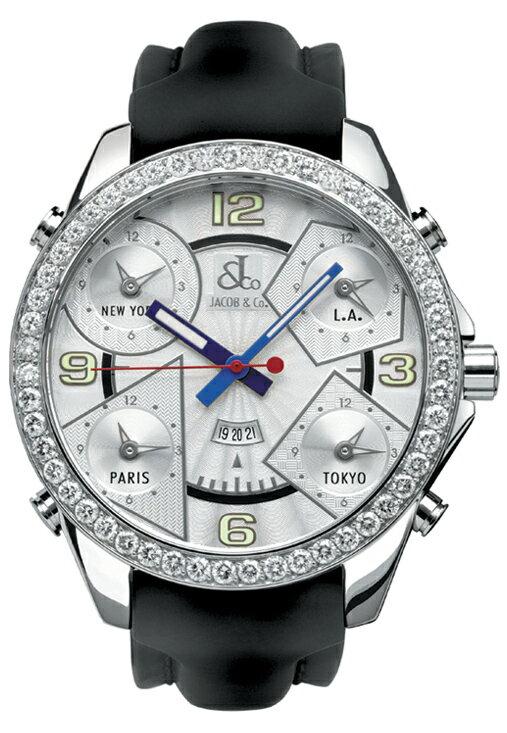 腕時計 メンズ JACOB&Co. ジェイコブ 腕時計 FIVE TIME ZONE(47mm) jc-3d 正規品