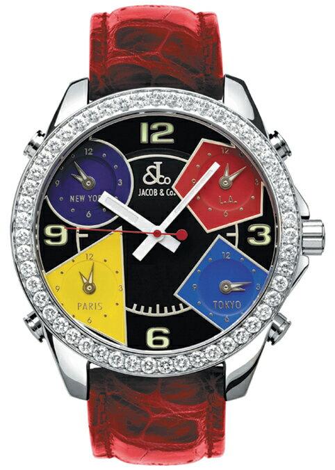 腕時計 ユニセックス JACOB&Co. ジェイコブ 腕時計 FIVE TIME ZONE(40mm) jc-m11d 正規品
