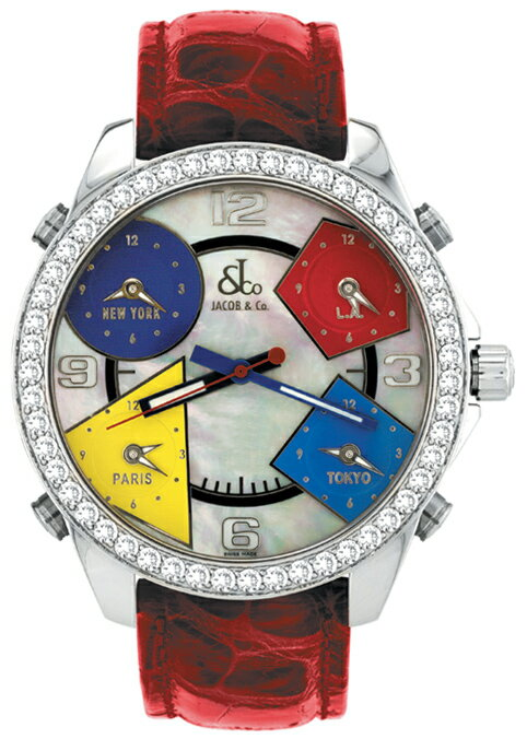 腕時計 ユニセックス JACOB&Co. ジェイコブ 腕時計 FIVE TIME ZONE(40mm) jc-m13d 正規品