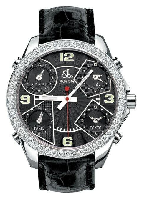腕時計 ユニセックス JACOB&Co. ジェイコブ 腕時計 FIVE TIME ZONE(40mm) jc-m2d 正規品