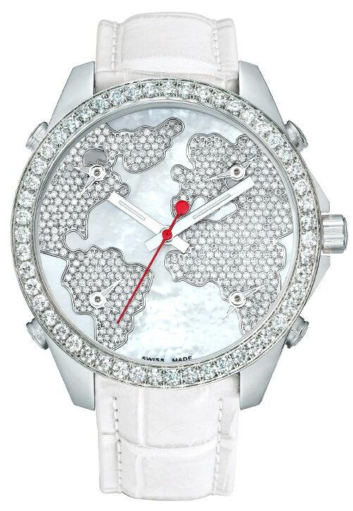 腕時計 ユニセックス JACOB&Co. ジェイコブ 腕時計 FIVE TIME ZONE(40mm) jc-m47wwdc 正規品