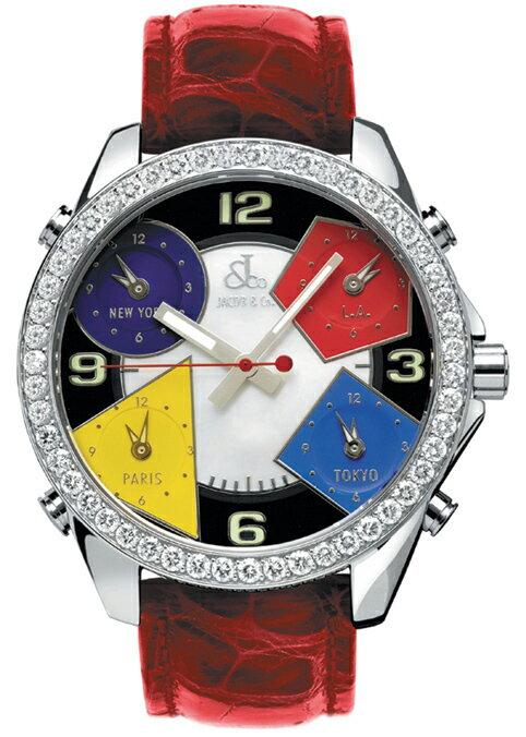 腕時計 ユニセックス JACOB&Co. ジェイコブ 腕時計 FIVE TIME ZONE(40mm) jc-m4d 正規品