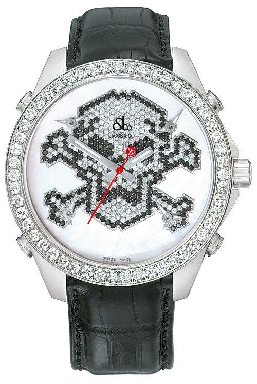 腕時計 ユニセックス JACOB&Co. ジェイコブ 腕時計 FIVE TIME ZONE(40mm) jc-mskull7d 正規品