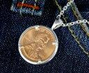 楽天スーパーSALE/スーパー/SALE シルバーペンダント|コインペンダント アメリカの硬貨セントを使用したシルバーペンダントトップ ラッキーペニー 本物使用