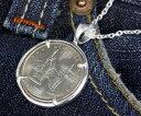 楽天スーパーSALE/スーパー/SALE シルバーペンダント コインペンダント アメリカ50州記念コインアメリカ最大の都市 ニューヨークの記念25セントコイン 2001年発行 本物使用