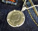 楽天スーパーSALE/スーパー/SALE シルバーペンダント|コインペンダント イギリスの硬貨5ペンスを使用したシルバーペンダントトップ女王エリザベス2世