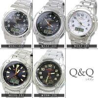 CITIZENCBMシチズンソーラー電波アナデジメンズウォッチ腕時計MCS2-302Q&Q