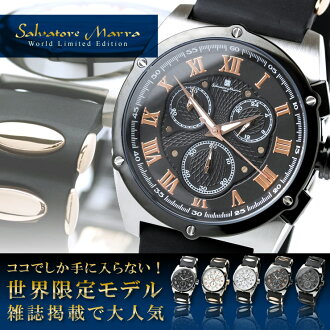 Watch men's magazine! Salvatore Marra Salvatore Mara mens watch chronograph men watch limited うでどけい gift SM9030 watch for men