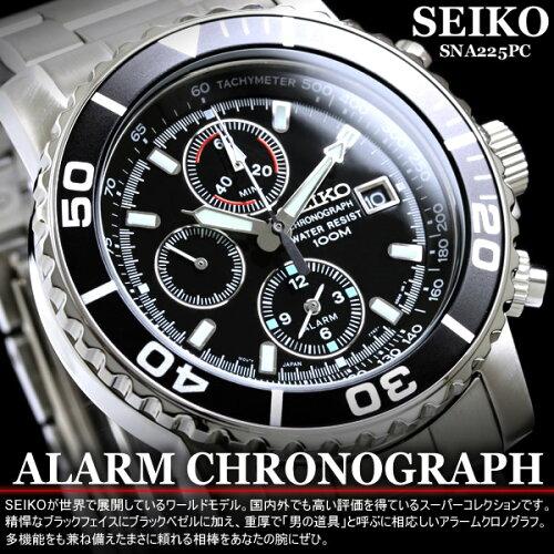 セイコーウォッチ セイコー SEIKO 腕時計 メンズ クロノグラフ 逆輸入 SNA225P1 正規品 アラーム ...