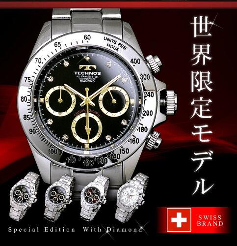 腕時計 メンズ 時計 クロノグラフ 人気 クロノグラフ 機能 搭載 TECHNOS テク...