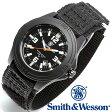 [正規品] スミス&ウェッソン Smith & Wesson ミリタリー腕時計 SOLDIER WATCH NYLON STRAP BLACK SWW-12T-N [あす楽] [ラッピング無料] [送料無料]