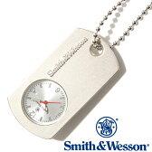 [正規品] スミス&ウェッソン Smith & Wesson ミリタリー 時計 DOG TAG WATCH BLACK SWW-1564-SLV [あす楽] [ラッピング無料] [送料無料]