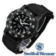 [正規品] スミス&ウェッソン Smith & Wesson スイス トリチウム ミリタリー腕時計 SWISS TRITIUM 357 SERIES TACTICAL WATCH NYLON BLACK SWW-357-N [あす楽] [ラッピング無料] [送料無料]