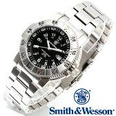 [正規品] スミス&ウェッソン Smith & Wesson スイス トリチウム ミリタリー腕時計 SWISS TRITIUM 357 SERIES AVIATOR WATCH SILVER SWW-357-SS [あす楽] [ラッピング無料] [送料無料]