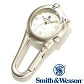 [正規品] スミス&ウェッソン Smith & Wesson スイス ミリタリー時計 CARABINER CLASSIC WATCH SILVER SWW-36-SLV [あす楽] [ラッピング無料] [送料無料]