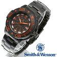 [正規品] スミス&ウェッソン Smith & Wesson スイス トリチウム ミリタリー腕時計 SWISS TRITIUM DIVER WATCH BLACK/ORANGE SWW-900-OR [あす楽] [ラッピング無料] [送料無料]
