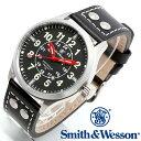 [正規品] スミス&ウェッソン Smith & Wesson ミリタリー腕時計 MUMBAI LAMPLIGHTER WATCH BLACK/SILVER SWW-GRH-1 [あす楽] [ラッピング無料] [送料無料]