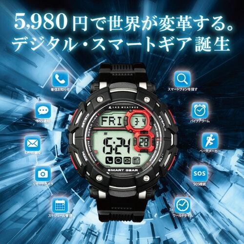 スマートウォッチ 腕時計 メンズ デジタル iphone アンドロイド ギャラクシー 対応 デジタルウォッ...