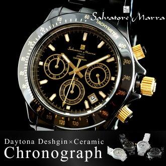 Men's watches men watch watch Salvatore Marra MEN's all 4 color Salvatore Mara ceramic SM12101.